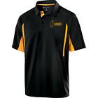 Hammer Men's Reaper Performance Polo Bowling Shirt Black Gold Dri-Fit Comfort