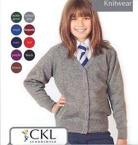 Girls Schoolwear Girls Premium Wool-Mix Knitted Cardigan Girls School Cardigan