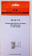 Quickboost 1/48th Scale Item No. 48774 Kawasaki Ki-61-Id Hien Gun Barrels