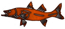 Trout Fish Laser Cut Out Wall Art Faux Copper Finish Metal Sign 10x23.5 RVG306C