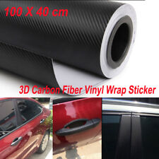 3D Car Vehicle Accessories Interior Panel Black Carbon Fiber Vinyl Wrap Sticker