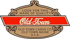 "Vintage Old Town Canoe Paddle vinyl decal outboard boat 3.5"" wide"