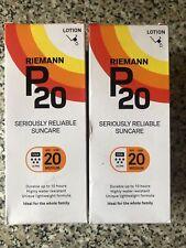 2 X Riemann P20 Once a Day Sun Protection Lotion SPF 20 Medium 200ml