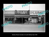 OLD LARGE HISTORIC PHOTO OF BUNBURY WESTERN AUSTRALIAN, THE RAILWAY CAFE c1940