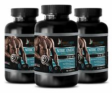 Nitric Oxide 3150mg - Muscle Gainer - 270 Capsules 3 Bottles