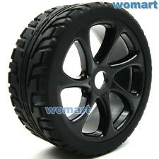 4pc RC 1/8 On Road Tires w/ Wheels Rims Hex 17mm Fit RC 1:8 On-Road Buggy Car