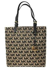 Michael Kors Jet Set Signature North South Tote in Beige / Black / Black - NWT