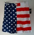 OT REVOLUTION PATRIOTIC USA AMERICAN  FLAG  Boys' Striped Swim Trunks size XL