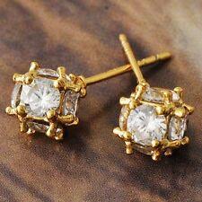 Womens 14K Gold Filled Clear Crystal Megic-ball Stud earing Jewel Free Shipping