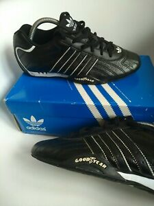Adidas goodyear men's trainers Size 8 originals black leather genuine rekord