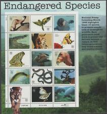 Scott # 3105 - Us Souvenir Sheet Of 15 - Endangered Species - Mnh - 1996
