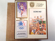 OLYMPIC GOLD LIMITED ED. DOUBLE DECK PLAYING CARD SET-1984 LOS ANGELES- GIFT