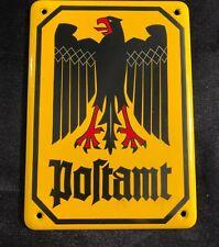 "HEAVY GERMAN REICHSPOST ENAMEL SIGN 5.5"" x 4"" - LOT 24"
