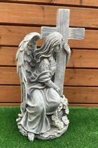Solar Angel With Cross Light Grave Cemetery Memorial Grave Ornament
