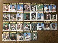 1986 SAN DIEGO PADRES Topps COMPLETE Baseball Team SET 29 Cards GWYNN GARVEY !