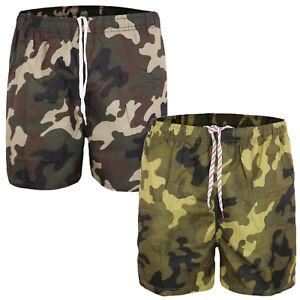 Costume Da Bagno Uomo Mare Mimetico Boxer Piscina Pantaloncino Bermuda Shorts