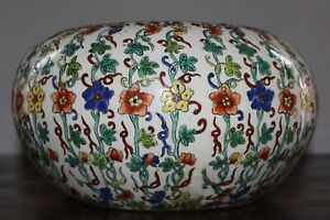 ANTIQUE CHINESE QING FAMILLE ROSE - RED YONGZHENG MARK 28 CM