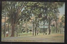 POSTCARD GREAT BARRINGTON MA/MASSACHUSETTS CONGREGATIONAL CHURCH & MANSE 1907