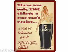 Guiness Beer Pin Up Girl Resist  Refrigerator / Tool Box  Magnet Man Cave
