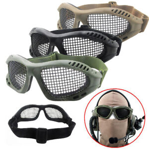 Airsoft Tactical Vented Safety Goggles Eyes Protection Steels Wire Mesh Glasses