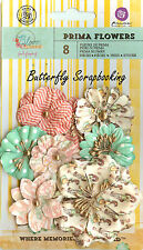 Prima Flowers 8 Flowers Bloom Collection Scrapbooking Prima Inc. 575120 NEW