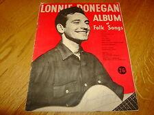 LONNIE DONEGAN ALBUM OF FOLK SONGS-SIGNED BY LONNIE-PB-G-V RARE