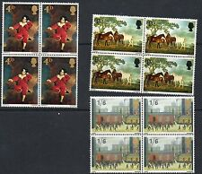 GB 1967 British Paintings unmounted mint set as block of 4 stamps