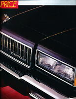 1987 Chevrolet Caprice Deluxe Sales Brochure Book