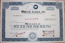 Specimen Stock Certificate: 'Wien Air Alaska, Inc.' - Aviation/Airline/Air Line