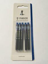 VINTAGE PARKER PENMAN SAPPHIRE INK CARTRIDGES X 5 - NEW OLD STOCK -FRANCE.