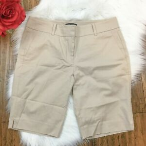 Ann Taylor Women's Preppy Devin Fit Professional Khaki Chino Dress Shorts Size 6