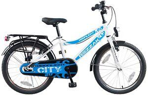 20 Zoll Fahrrad Kinderfahrrad Jungen  Rücktrittbremse RH 33 weiss Blau NEU -042