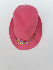 Pink hat with sequins girls one size