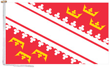 More details for alsace france flag with rope and toggle - various sizes