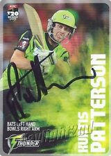 ✺Signed✺ 2014 2015 SYDNEY THUNDER Cricket Card KURTIS PATTERSON Big Bash League