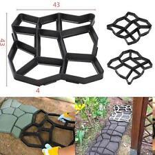 DIY Driveway Paving Brick Patio Garden Mold Concrete Slabs Path Walk Maker Mould