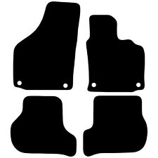 Tailored Black Car Floor Mats Carpets 4pc Set with Clips for Volkswagen Golf MK5