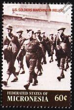 WWII US Army Troops & British Soldier March Through Derry (N.Ireland) Stamp