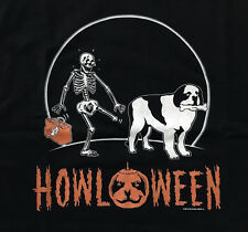 NEW Big Dogs Halloween Howl-O-Ween T-Shirt Skeleton Leg Bone St. Bernard Mens XL