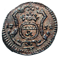 HIGHT  GRADE! UNC 1752 Saxon Polish Poland German Coin Haler - Augustus III