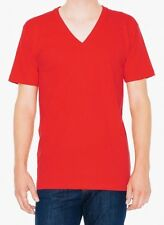 American Apparel 50/50 Poly Cotton V Neck Tee T-Shirt BB456 Classic Red Small