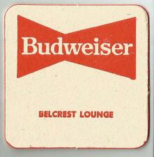 16  Budweiser Belcrest Lounge  Beer Coasters
