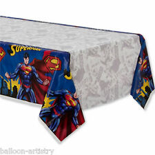 2.37mx2.59m DC Comic Book SUPERMAN Superhero Children's Party Table Cover