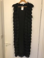 Black Tassle Jacket H&M Size S New With Tags