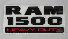 NEW DODGE RAM 1500 HEAVY DUTY BLACK 3M LOGO EMBLEM LETTERS NAMEPLATE BADGE