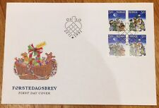 Norway Post FDC 1991.11.22. Christmas Stamp - Fairytales - Block of Four