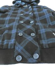 Billabong - Women's Large Snowboard Navy/Black plaid Zip Jacket (b)