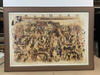 "LeRoy Neiman ""NEW YORK STOCK EXCHANGE"" NYSE 1977 Lithograph Hand Signed By Leroy"