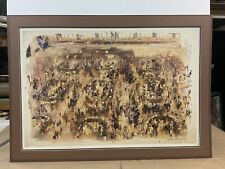 """LeRoy Neiman """"NEW YORK STOCK EXCHANGE"""" NYSE 1977 Lithograph Hand Signed By Leroy"""