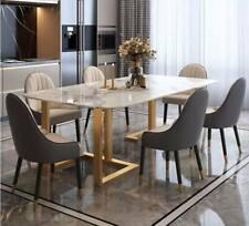 SALE Esstisch Tisch Marmortisch 180x70x75 Marmoroptik Premium Gold Marmor